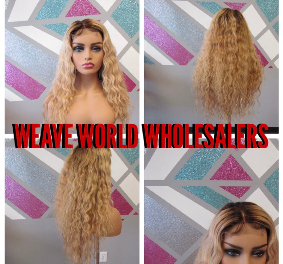 BEACH BLONDE VIBES LAYERED LACE CLOSURE WIG