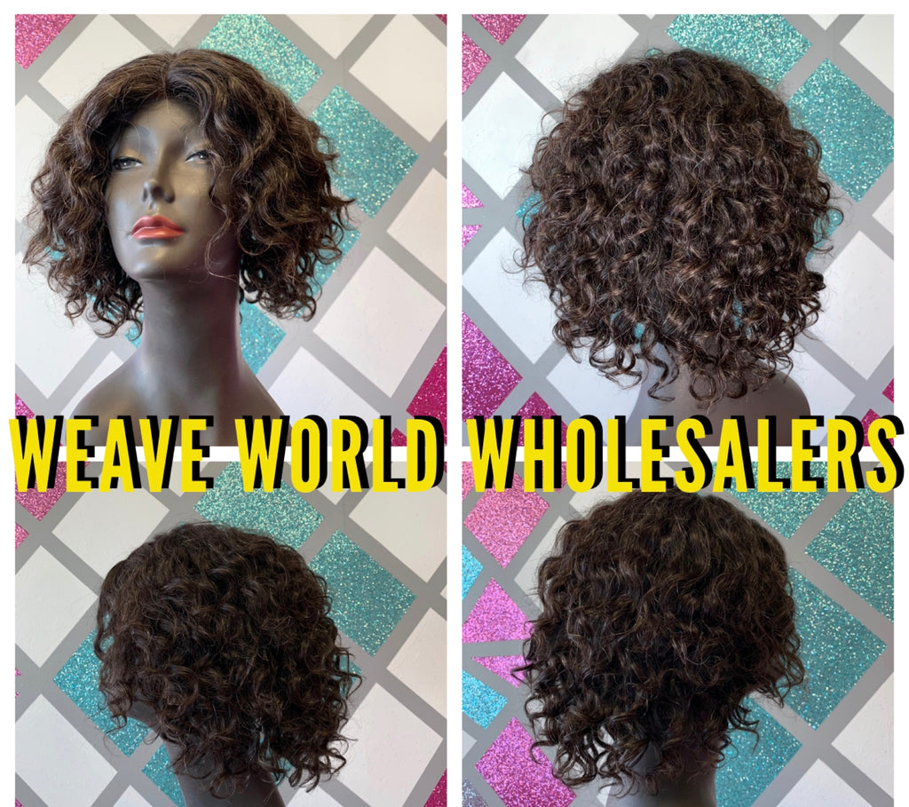SALT & PEPPER GREY WAVY SHORT WIG