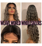SMOKEY GREY BODYWAVE LACE CLOSURE WIG
