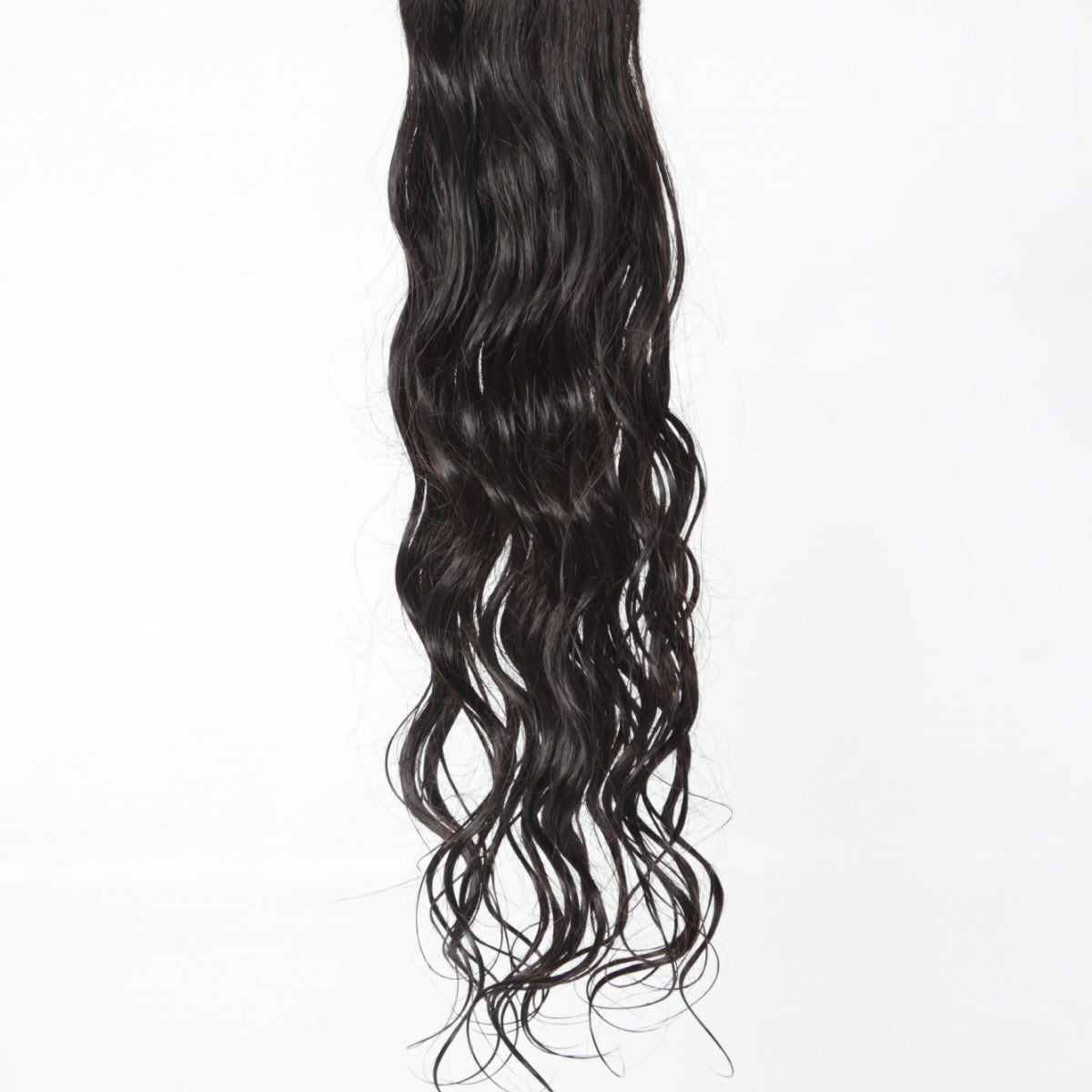 Indian Virgin Wavy Hair Extensions Wet down