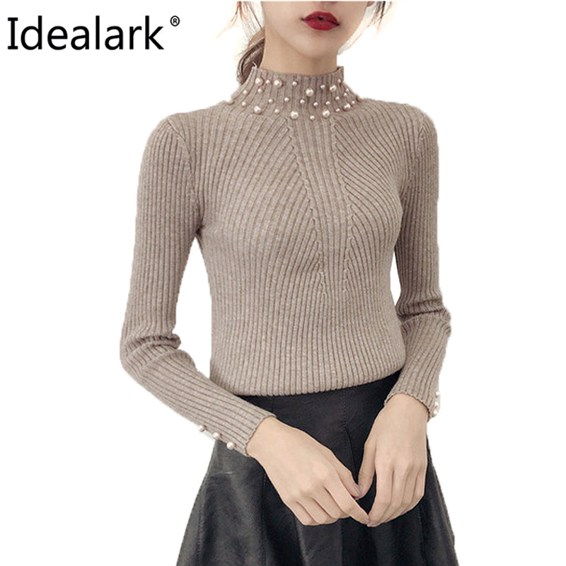 Pearl Beaded Cashmere Mohair Sweater