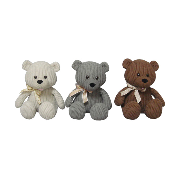 "10.5"" Sitting Knitted Fabric Bear Plush"