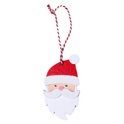 4PCS Santa Wooden Hanging Set