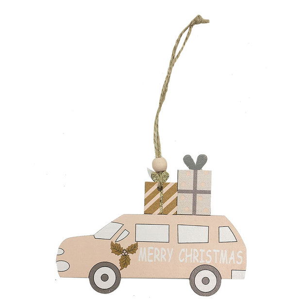 Car Shaped Wooden Hanging