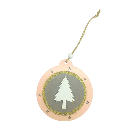Pink and Grey Wooden Hanging