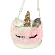Fluffy Unicorn Crossbody Bag