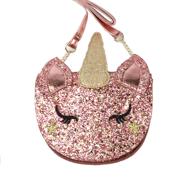 Glitter Unicorn Crossbody Bag