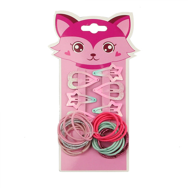 Pink Fox Kids Hair Accessories Set