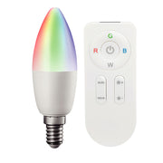 Paint RGBW with Remote Control LED Bulb - Candle