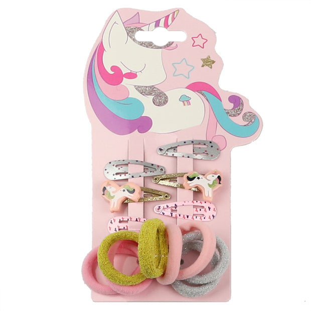Pink Unicorn Kids Hair Accessories Set