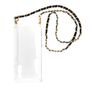 Shoulder Black Suede Chain Smartphone Case