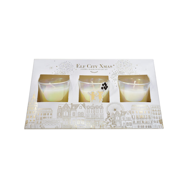 White Candle gift set
