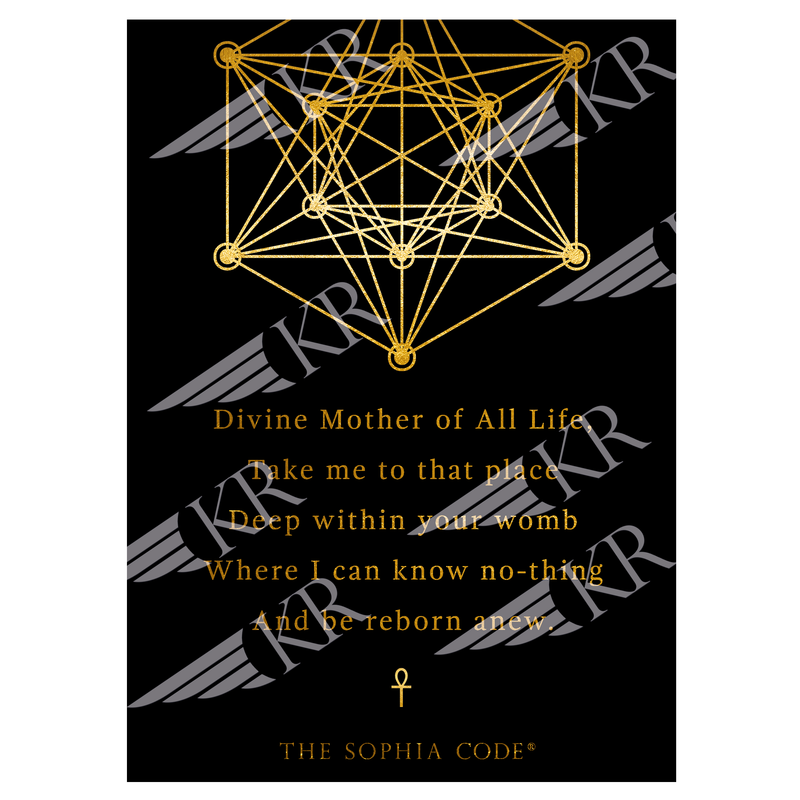 Divine Mother Altar Card
