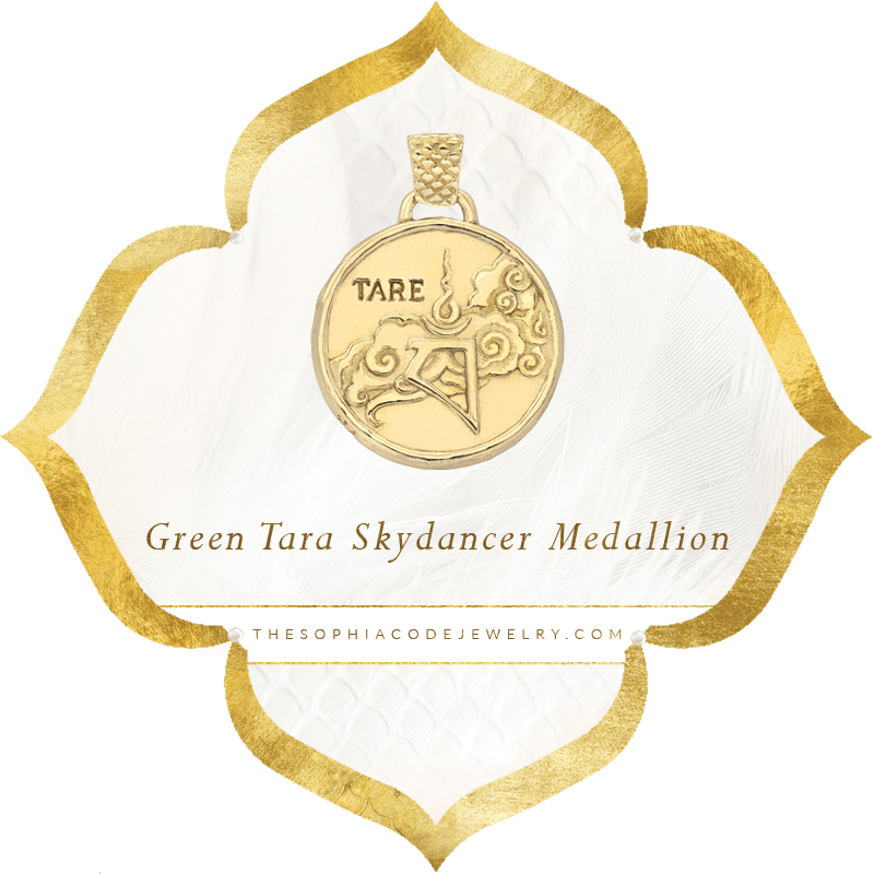 Green Tara Skydancer Medallion | Kaia Ra Jewelry | The Sophia Code