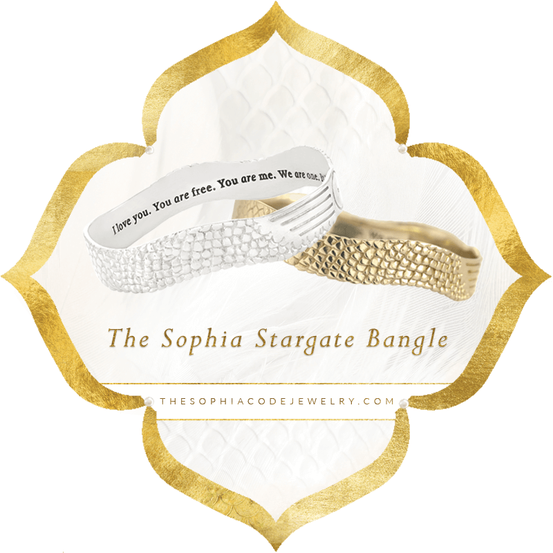 The Sophia Stargate Bangle | Kaia Ra Jewelry
