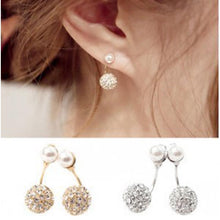 Double Sided Crystal Ball Earrings