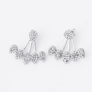 Double Sided Drop Crystals Earrings
