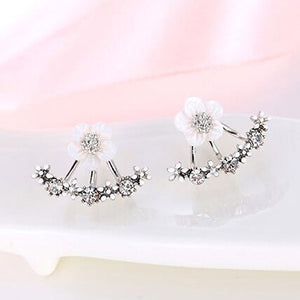 Double Sided Flower Earrings