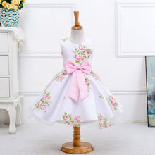 Girl's summer wedding flower dress