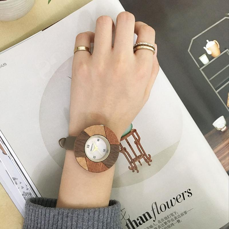 Wooden Analog Wristwatch