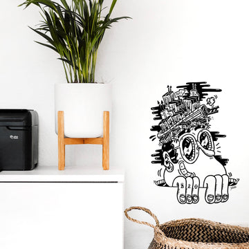 Sticker mural Bouda pour Modern Art Family