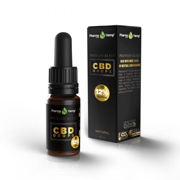 PREMIUM BLACK CBD DROPS<br /> 10ml | 12%