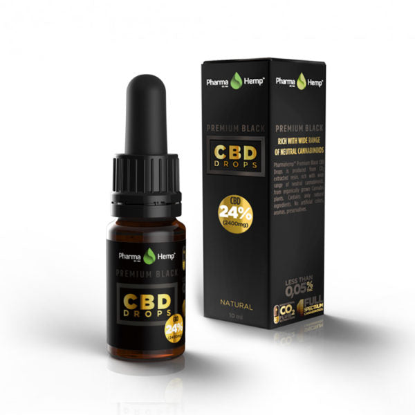 PREMIUM BLACK CBD DROPS<br /> 10ml | 24%