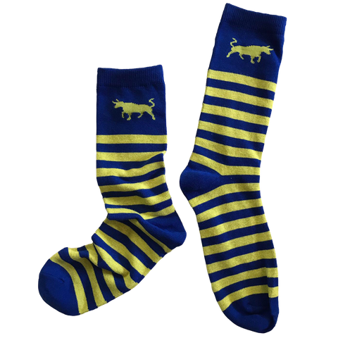 Bull Striped Socks - Swedish Yellow & Blue