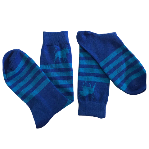 Bull Striped Socks - Double Blue