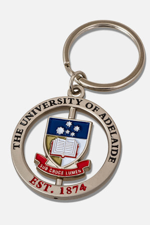 University of Adelaide Spinner Key Ring - The Adelaide Store