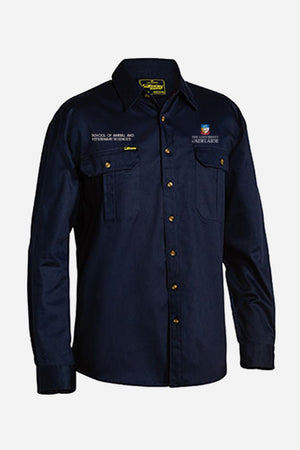 Placement Drill Shirt Navy Men's