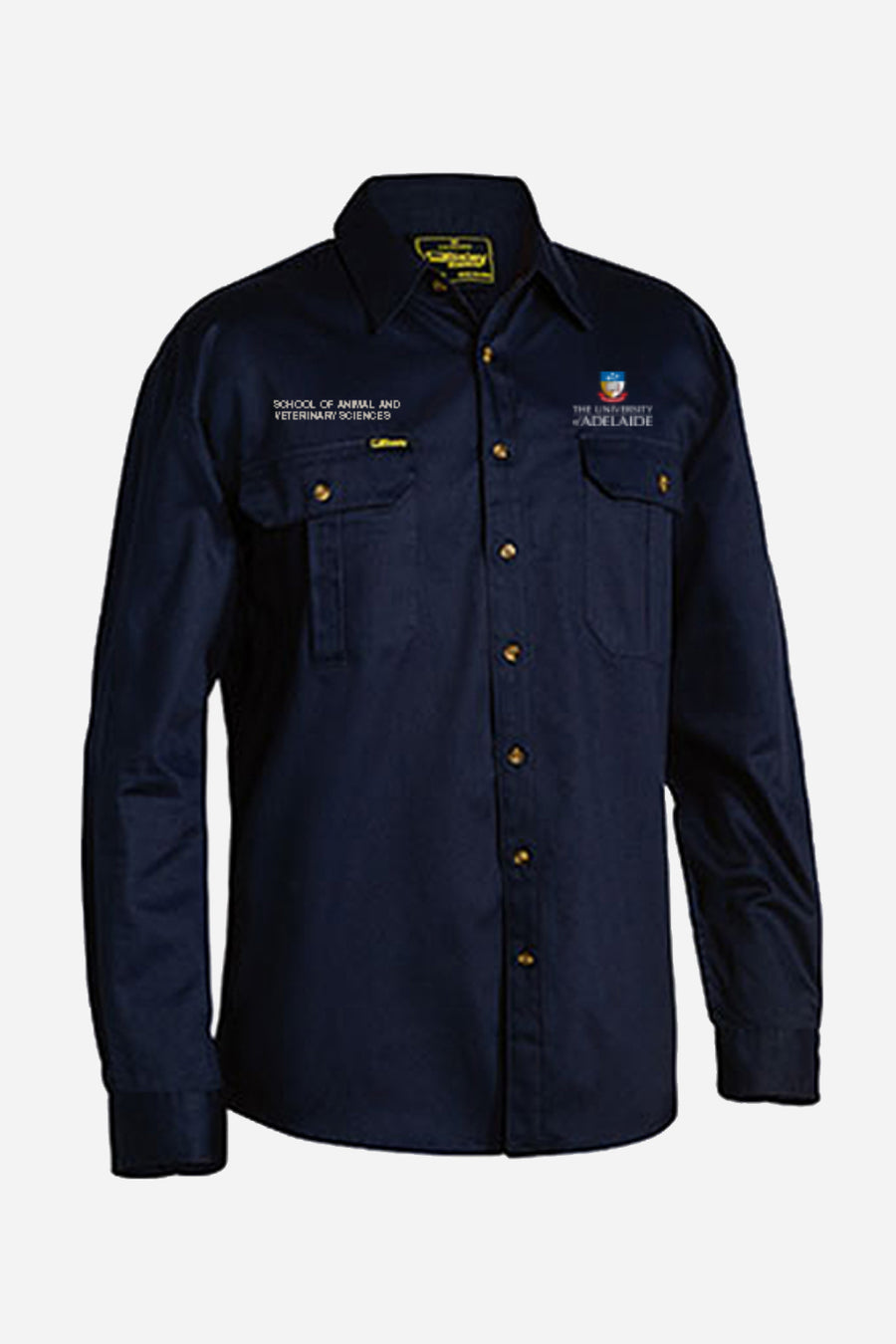 DVM navy men's drill shirt