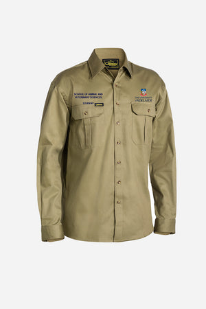 Women's Cotton Drill Khaki Shirt