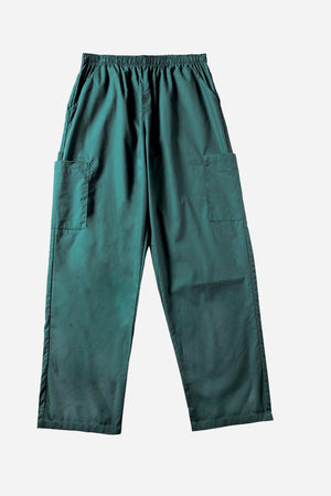 Green scrub pants women's