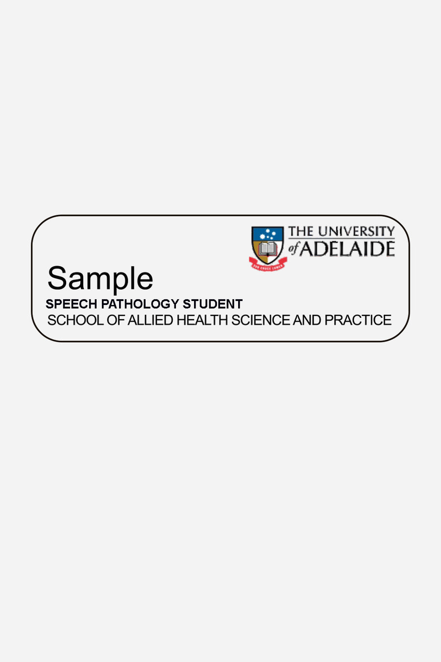 Speech Pathology student badge