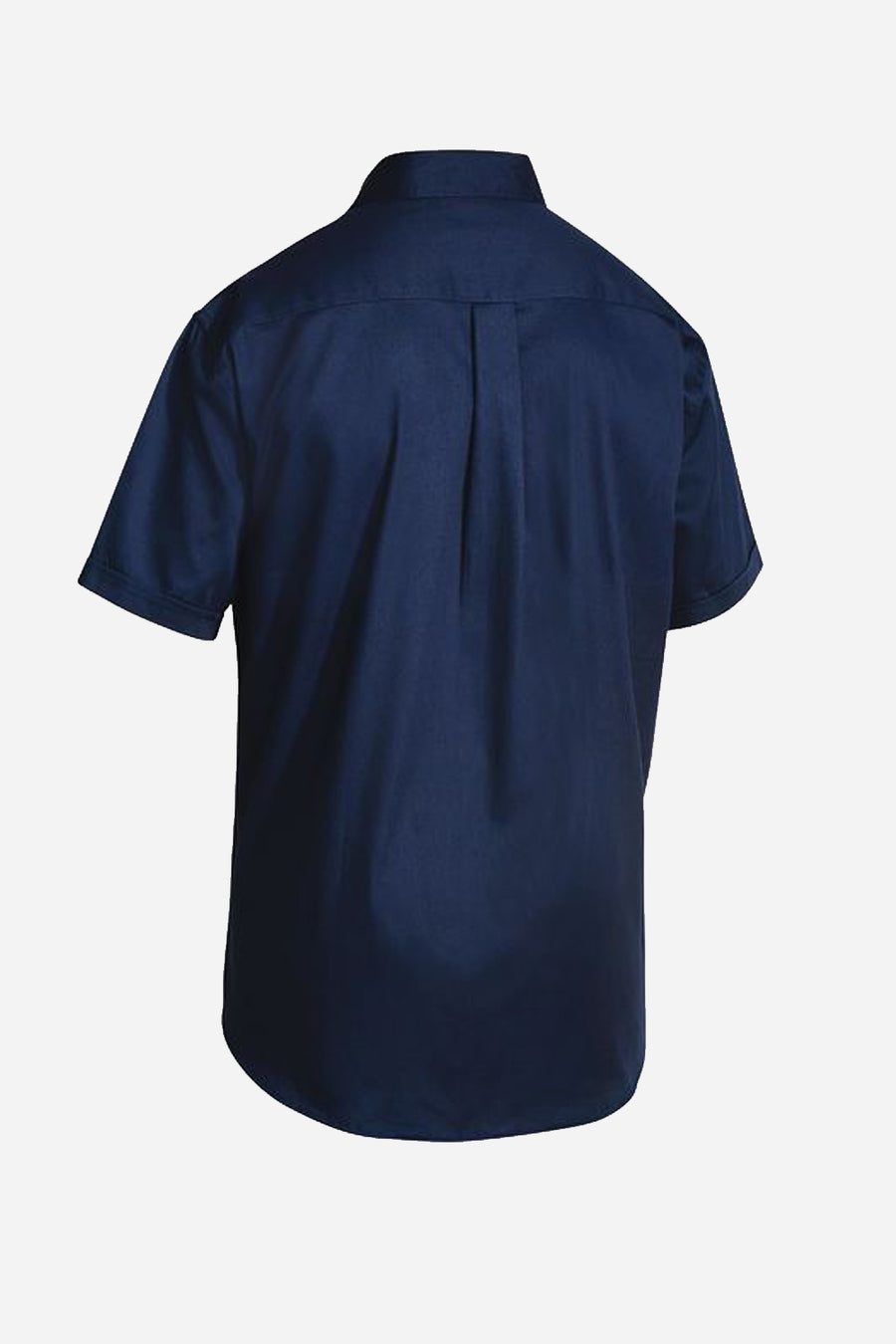 Veterinary drill shirt navy s/s men's