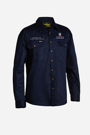 Bachelor of Agricultural Science drill shirt mens navy