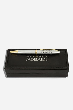 University Silver/Gold Boxed Pen - The Adelaide Store