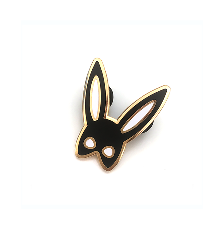 Bunny Mask <br> Emaille Pin