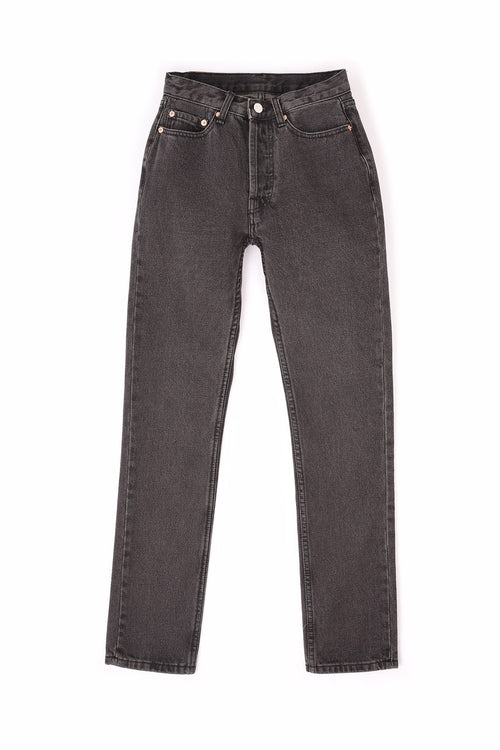 105 UNISEX JEANS WASHED BLACK