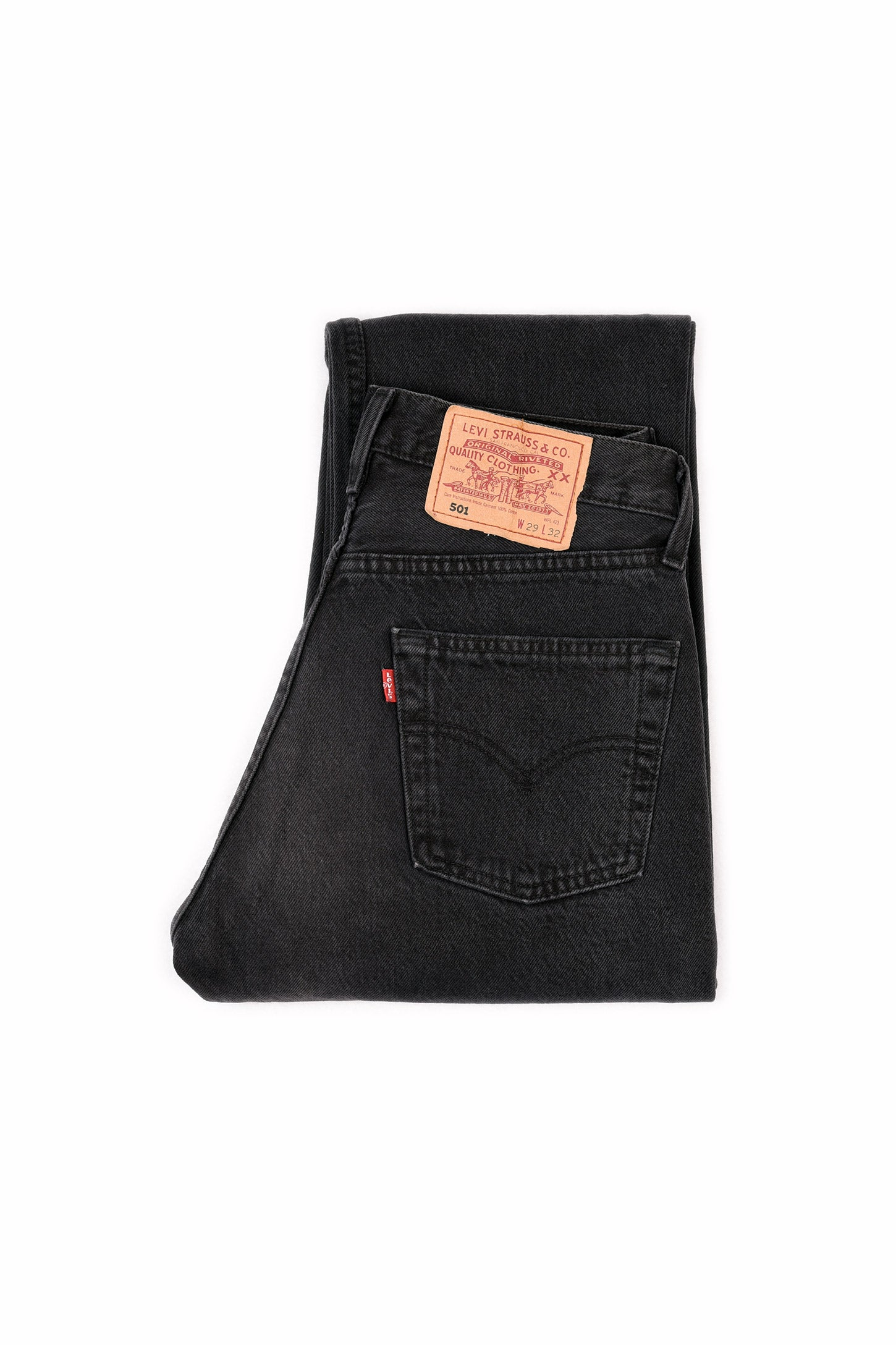Second Hand - LEVI'S 501 ORIGINAL FIT JEANS BLACK - FRÅN Ö TILL A