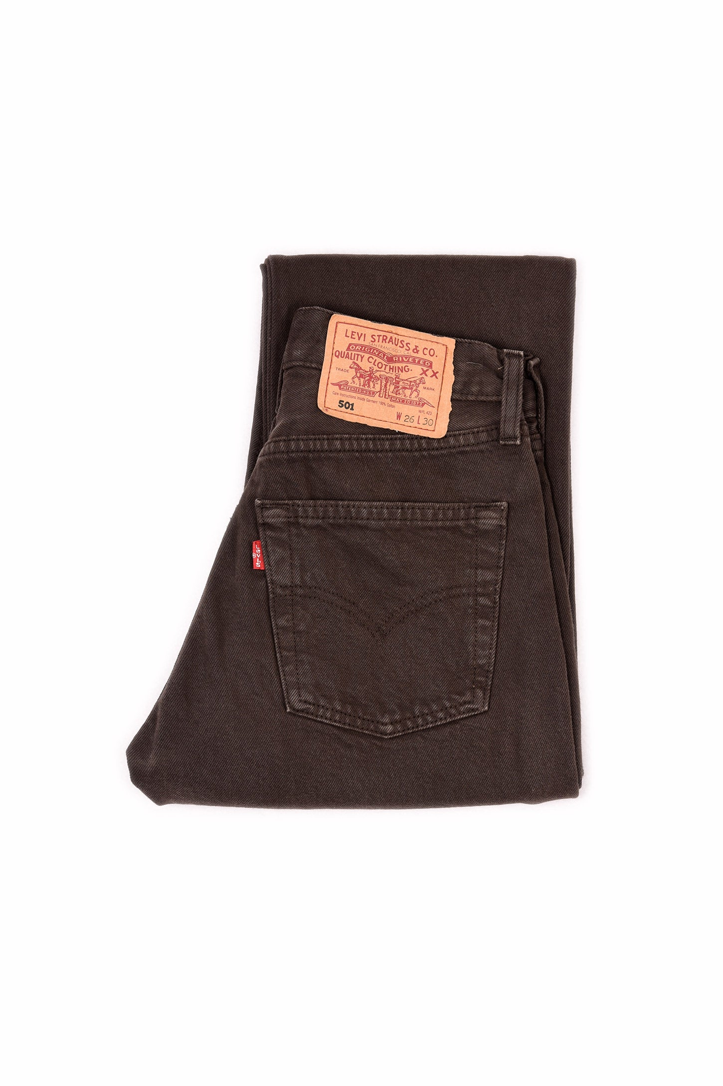 Second Hand - LEVI'S 501 ORIGINAL FIT JEANS BROWN - FRÅN Ö TILL A