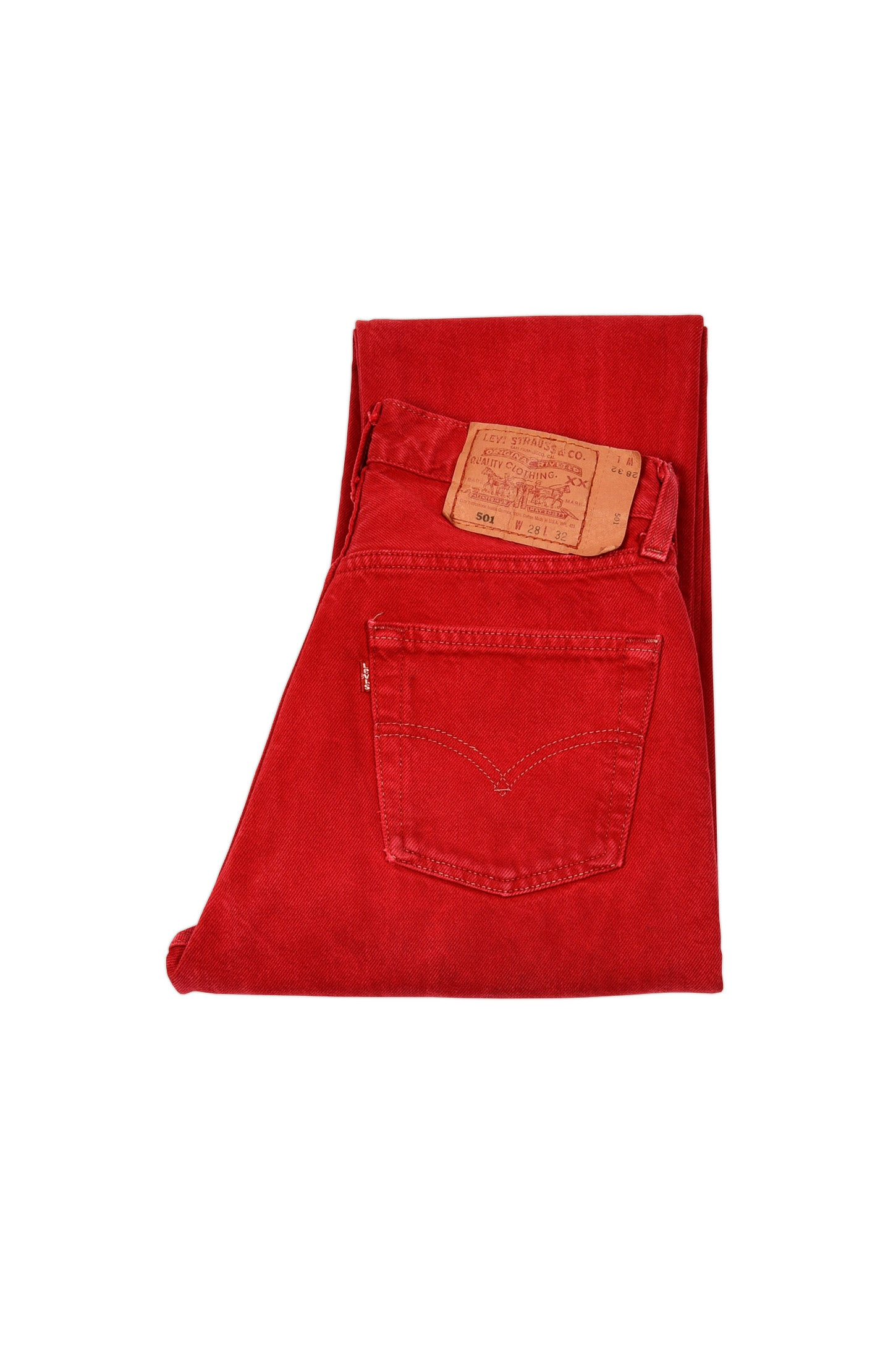 LEVI'S 501 ORIGINAL FIT JEANS RED