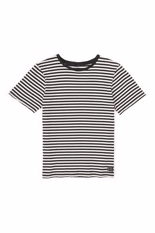 BASIC TEE STRIPE WHITE