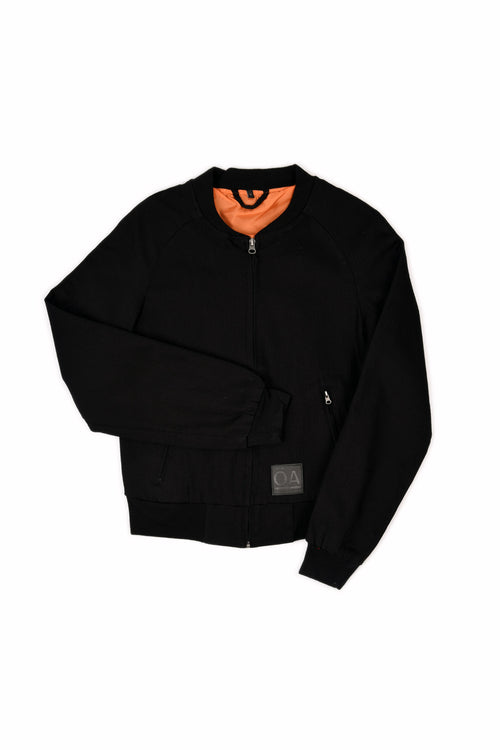 BOMBER JACKET STRETCH BLACK