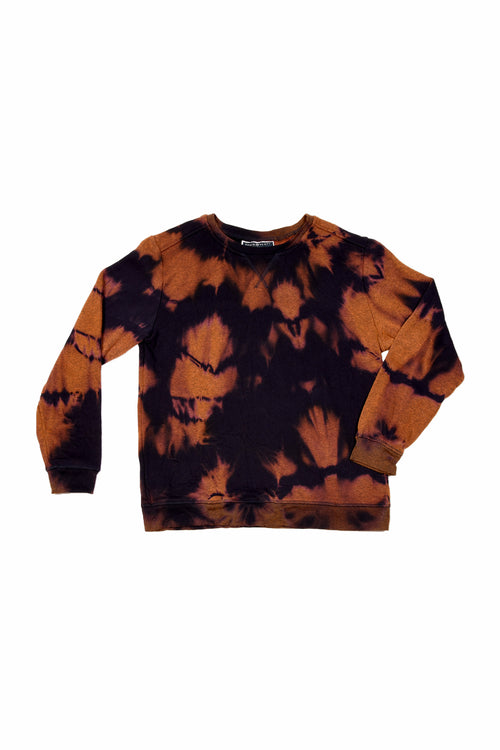 TIE DYE SECOND HAND SWEAT DARK