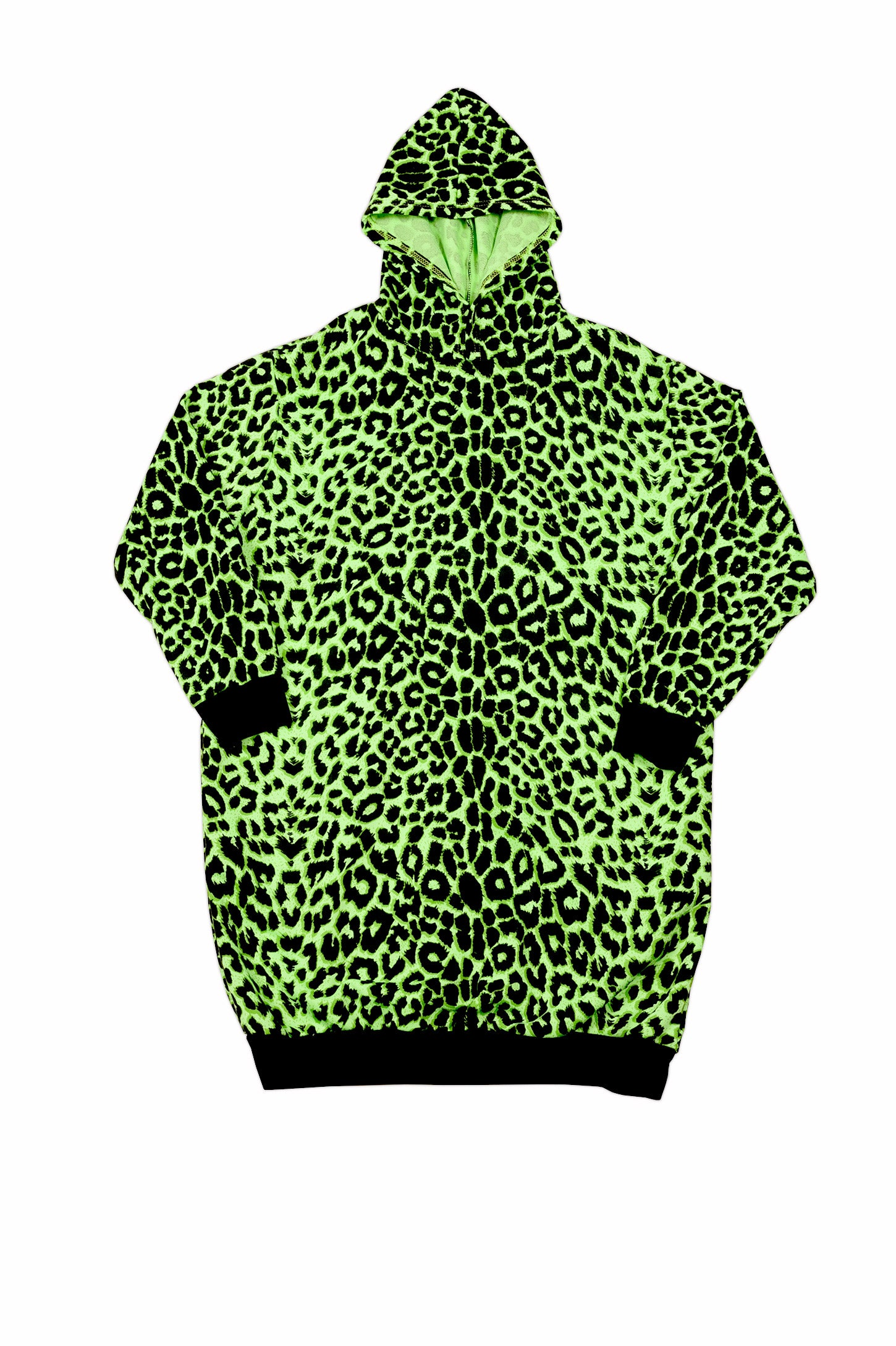OVERSIZED HOODIE GREEN LEPORD