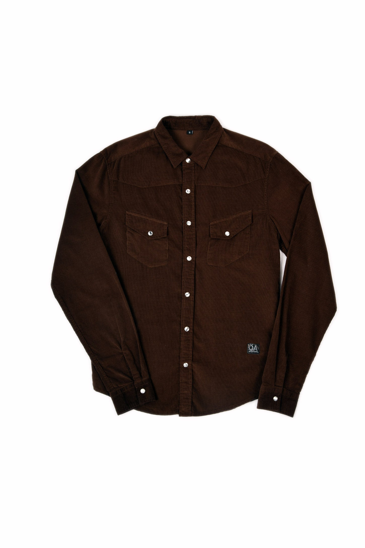 WESTERN SHIRT BROWN CORDUROY
