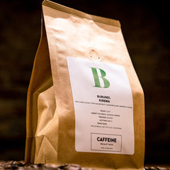 We are in love with our single origin coffee from Burundi! We taste tart and citric acidity with grapefruit, chamomile and caramel. Shop now at caffeineusa.com