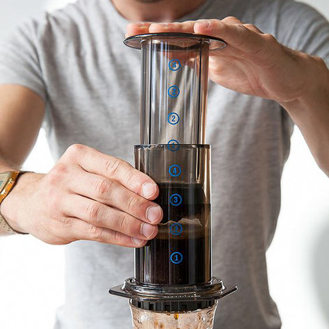 Versatile coffee making device Aeropress. Shop online at caffeineusa.com
